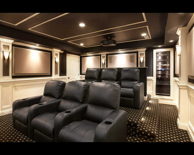 aldie theater traditional home theater dc metro by encore custom audio video. Black Bedroom Furniture Sets. Home Design Ideas