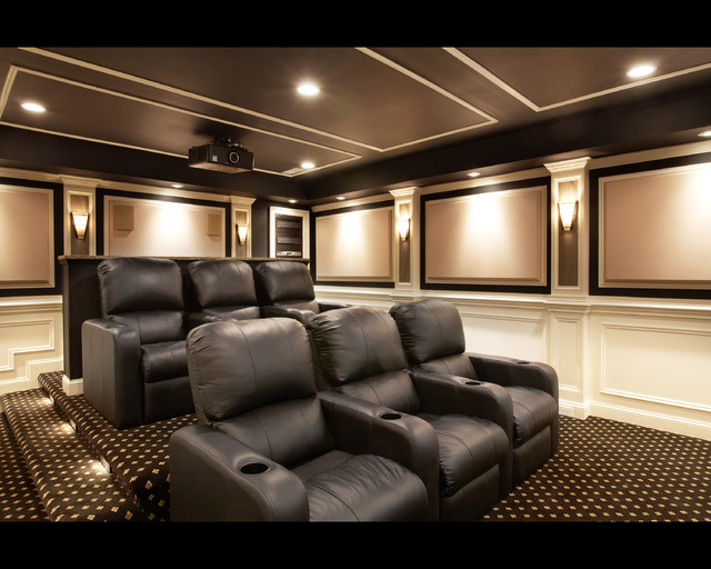 Aldie theater traditional home theater dc metro by encore custom audio video Home theater architecture