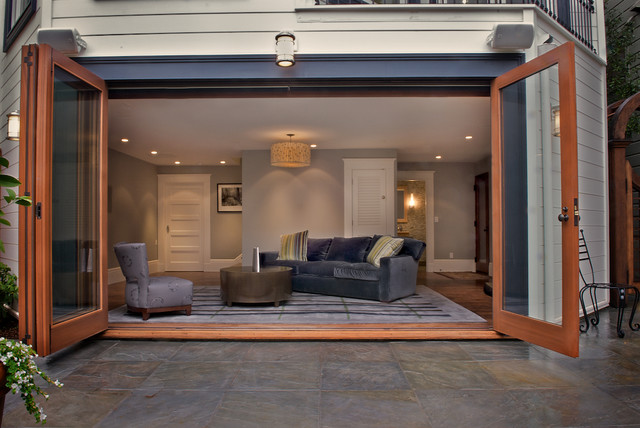 Inspiration for a contemporary enclosed home theater remodel in San  Francisco