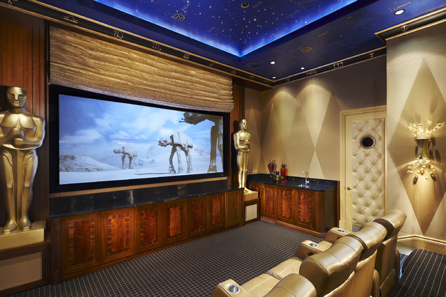 Arnold schulman contemporary home theater miami by - Living room movie theater boca raton ...