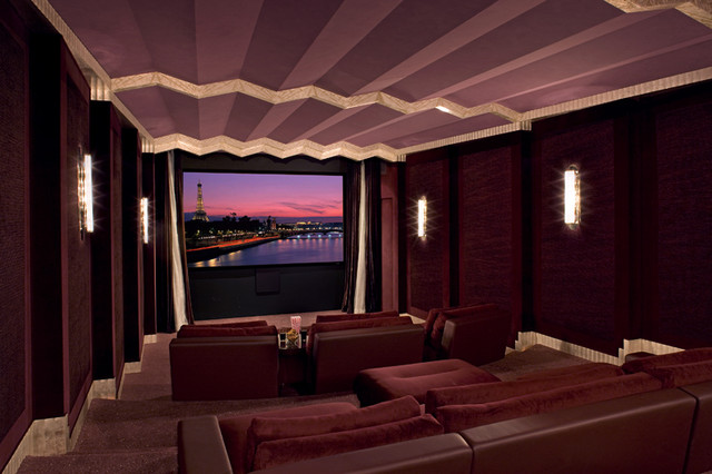 Art Deco Cinema modern media room