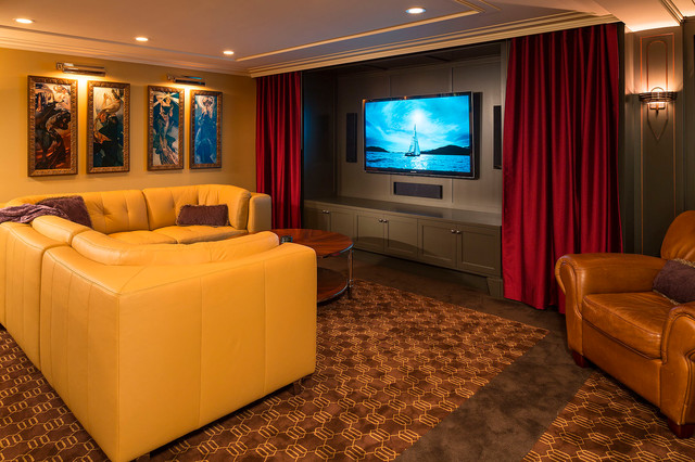 art deco entertaining modern home theater minneapolis by white space architecture. Black Bedroom Furniture Sets. Home Design Ideas