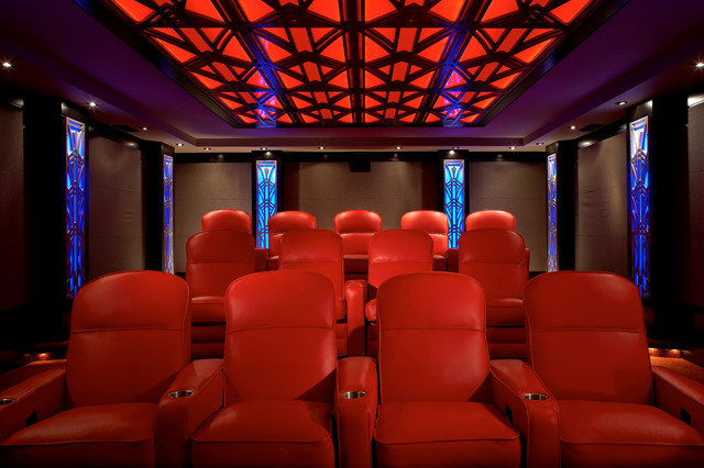 Art Deco Home Theatre Full Viewcontemporary Theater New York