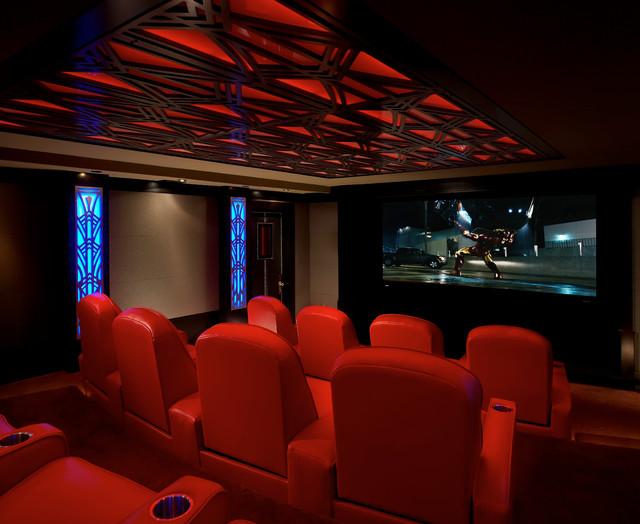 art deco home theatre. Black Bedroom Furniture Sets. Home Design Ideas