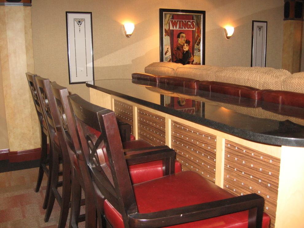 Nieuw Art Deco Media Room- custom bar - Traditional - Home Theater ZZ-76