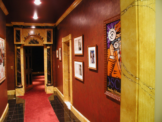 Art Deco Movie Palace Home Theater eclectic-home-theater
