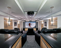 Ashburn Contemporary Basement - Theatre Area contemporary media room