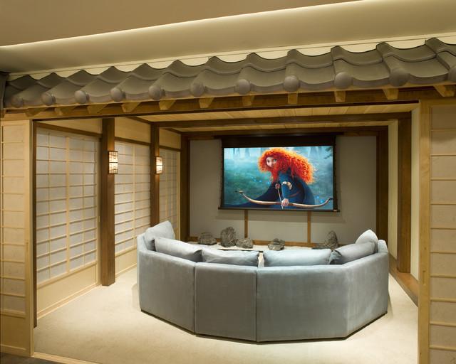 Asian themed theater asian home theater philadelphia for Japanese themed house