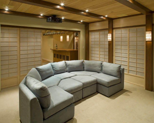 Asian Themed Theater  Asian  Home Theater  Philadelphia  by