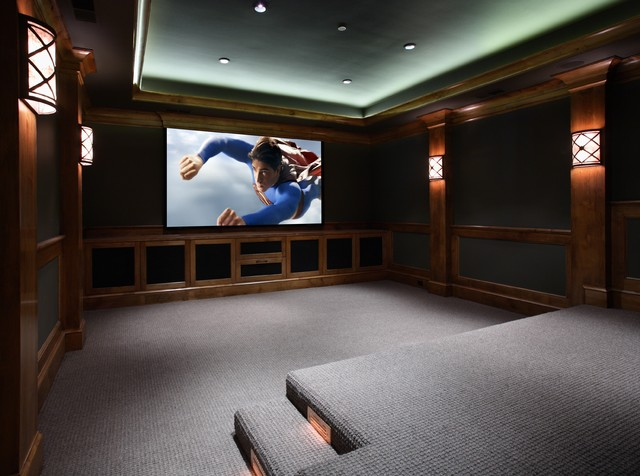 Atherton, California Luxury Home by Markay Johnson Construction traditional-home-theater