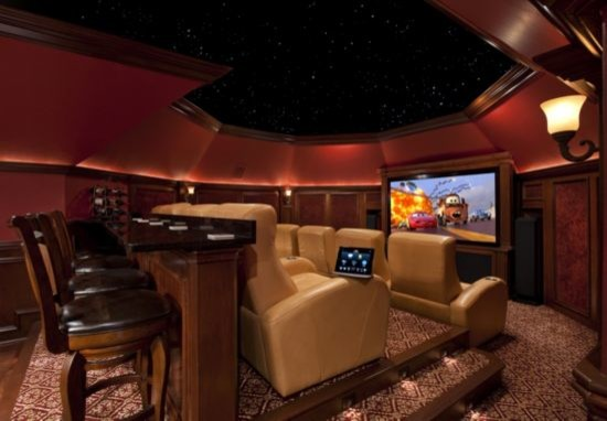 Attic Conversion Home Theater Contemporary Home