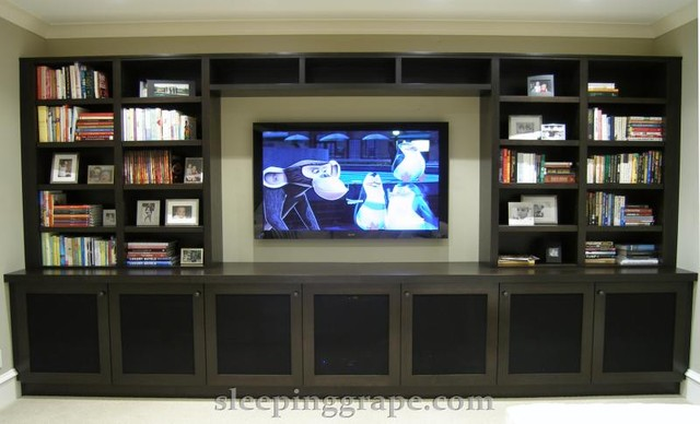 contemporary media room by Rollin Fox, Sleeping Grape Wine Cellars