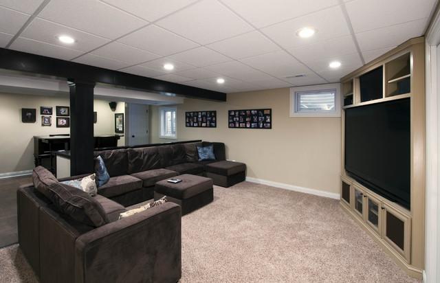 aurora il basement design and remodel contemporary home theater