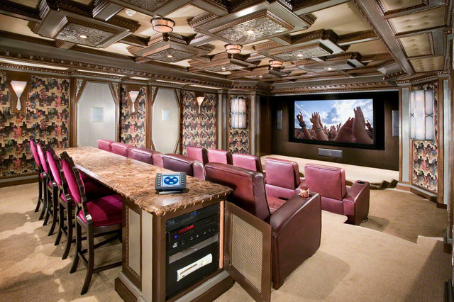 Award winning luxury theater room for Home theatre decorations