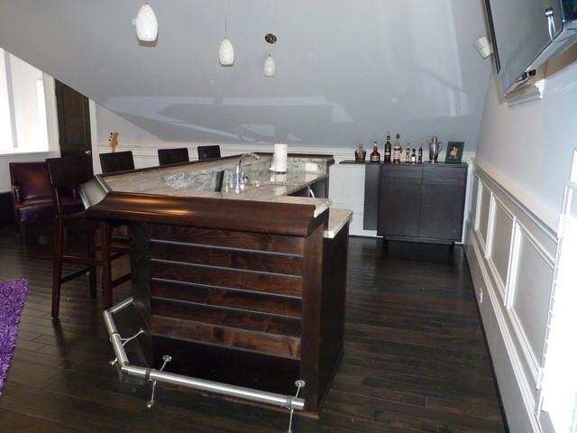 Bar Area modern-home-theater