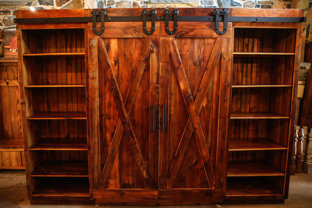 Barn Door Entertainment Cabinet - Rustic - Entertainment Centers And Tv Stands - Philadelphia ...