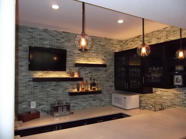 Basement Bar-1 - Modern - Home Theater - DC Metro - by Bryan Whittington