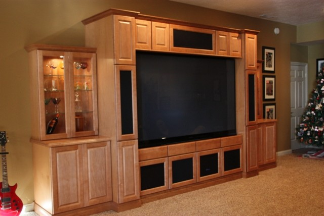 Basement entertainment center Home entertainment center