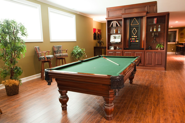Basement Game Room traditional-home-theater