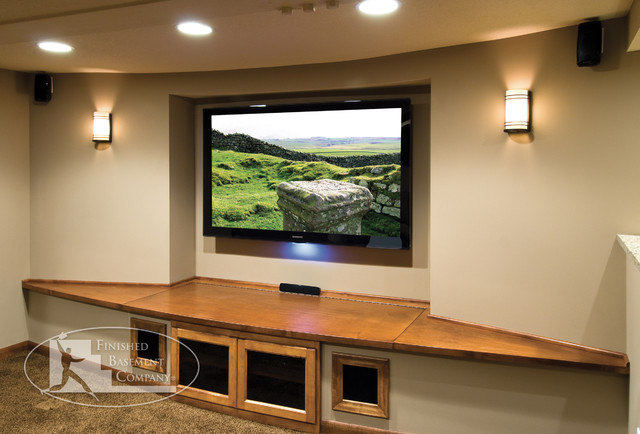 Basement Home Theater - Contemporary - Home Theater - minneapolis - by ...