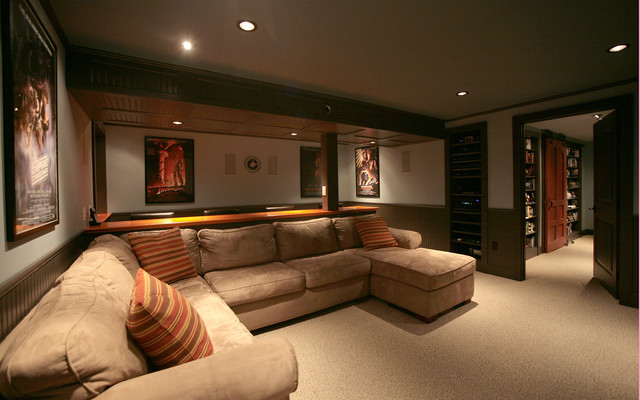 Media Rooms With Basement Home Decorating Ideas