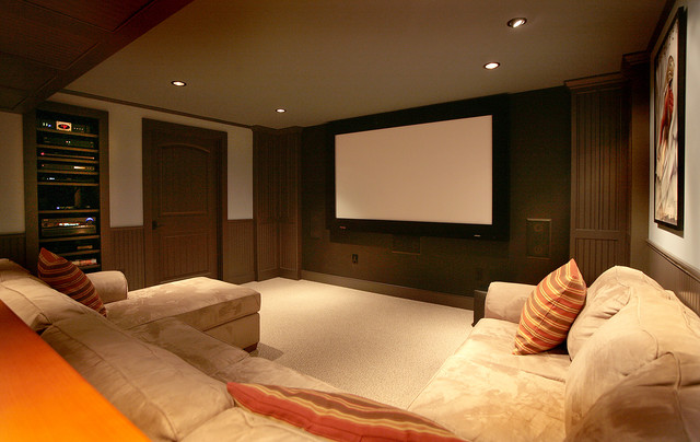 basement home theater traditional media room