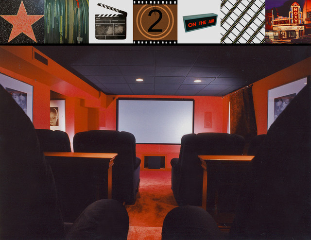 Basement Media Room contemporary-home-theater