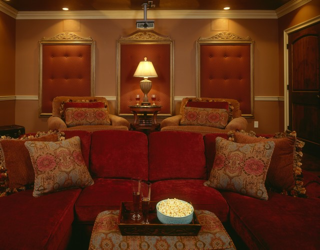 Basement/Media Room Remodel traditional-home-theater