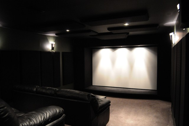 Basement Theater contemporary-home-theater