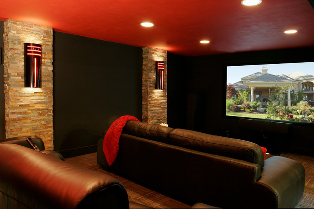 Basement theater remodel traditional home theater for Basement theater room