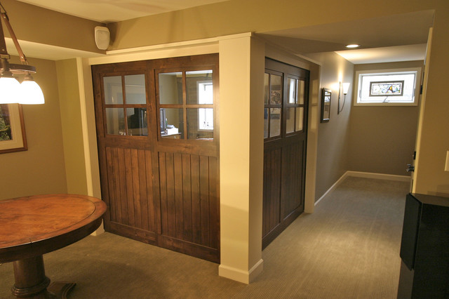 Basement Transformation traditional-home-theater