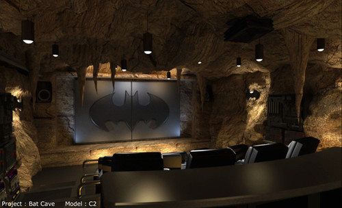 Batman Themed Man Cave