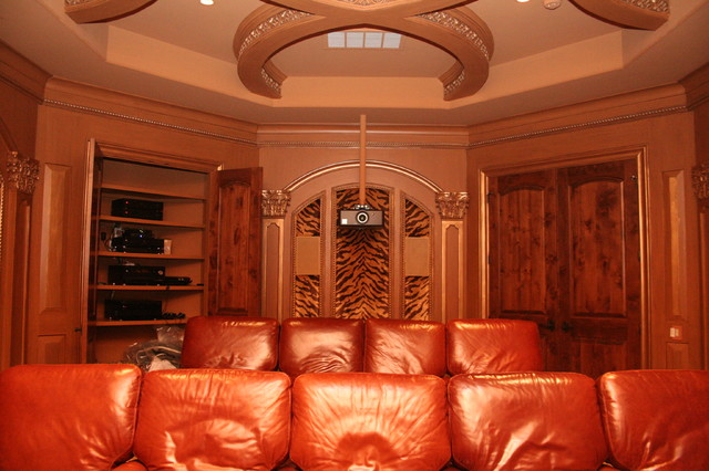 Bayside Custom Estate - Traditional - Home Theater - houston - by Premier Technology Group