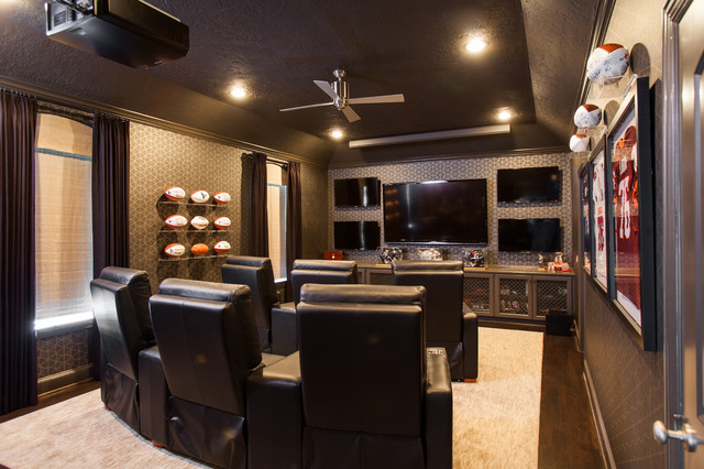 Bellaire Residence contemporary-home-theater