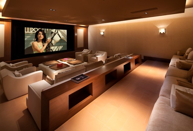 Merveilleux Beverly Hills Residence   Contemporary   Home Theater ...