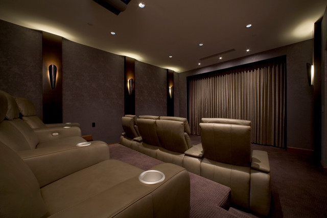 Blackout Curtains And Shades Modern Home Cinema