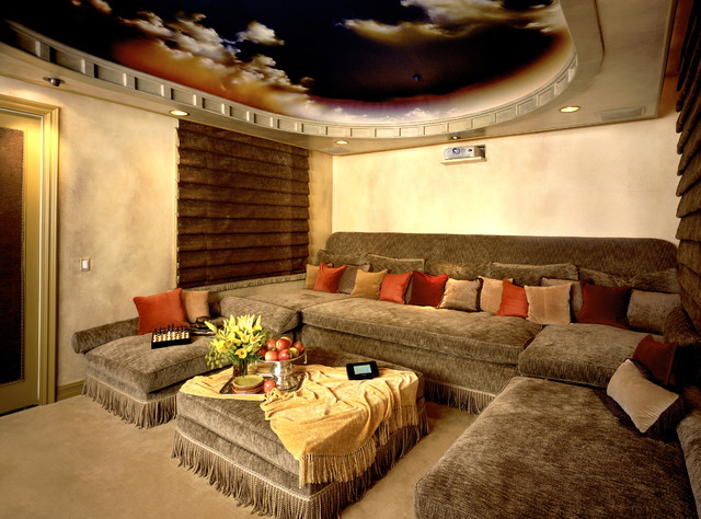 contemporary media room by Bliss Home Theaters & Automation, Inc