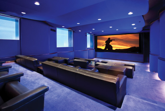 Blue Home Theaters contemporary-home-theater