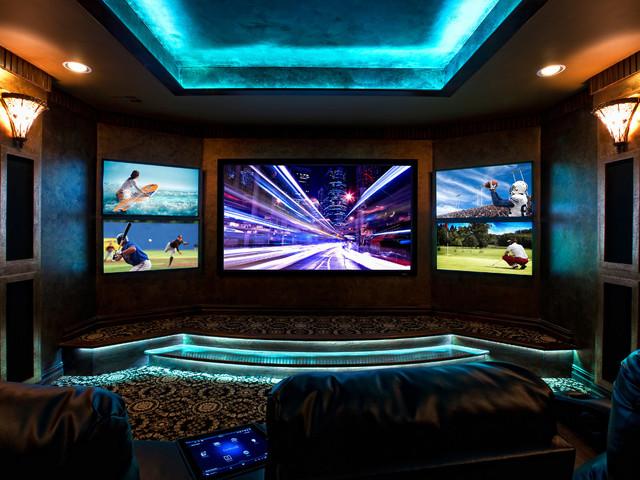 BlueSpeed AV showroom contemporary-home-theater