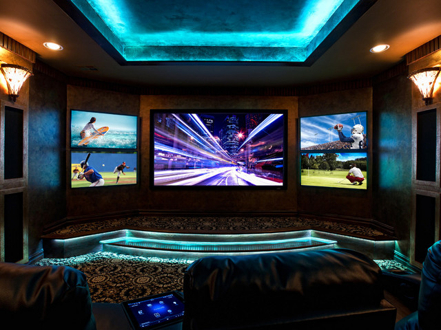 BlueSpeed AV showroom - Contemporary - Home Theater - other metro - by ...