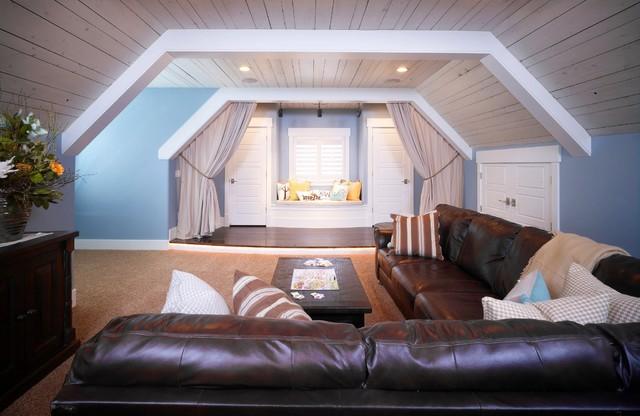 Bonus Room traditional-home-theater