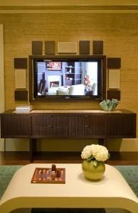 Boston Design Center Dream Home modern-home-theater