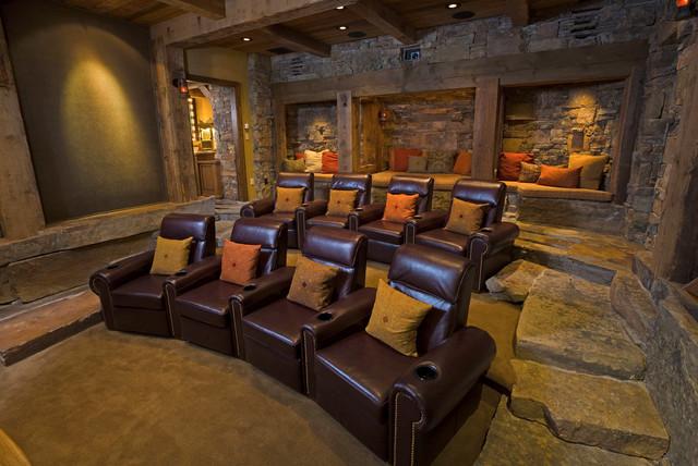 Bridger canyon residence montagne salle de cin ma autres p rim tres par locati architects - Residence de luxe montagne locati ...