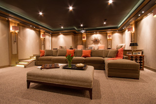 Bringing The Movies Home Contemporary Home Theater