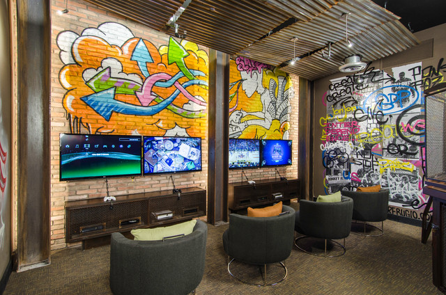 Broadstone Contemporary Home Theater Tampa By