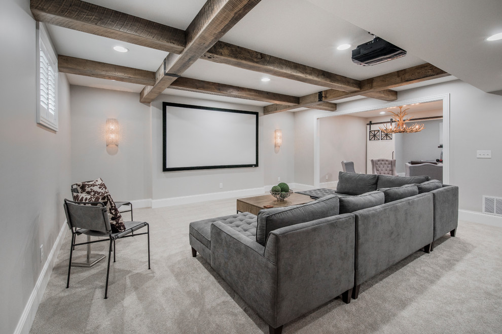 Example of a country home theater design in Columbus