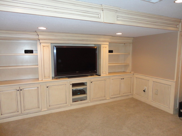 Built in Entertainment Center - Traditional - Home Theater - Kansas City - by KC Basement Finishing