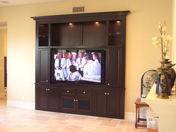 Builtin Entertainment Center Traditional Home Theater - Built in media center designs