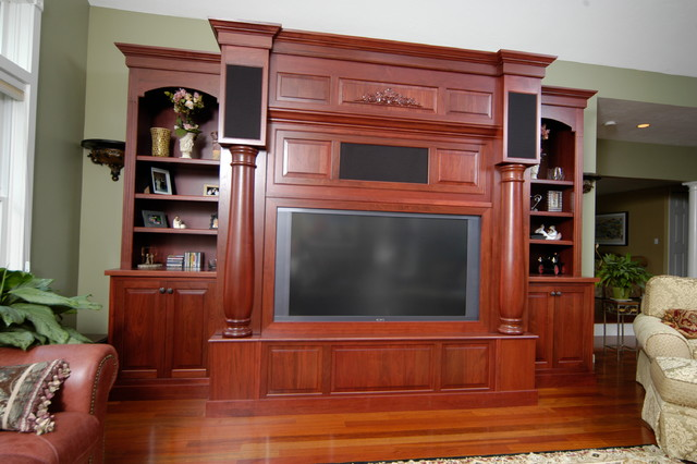 Built-in entertainment Unit traditional-home-theater