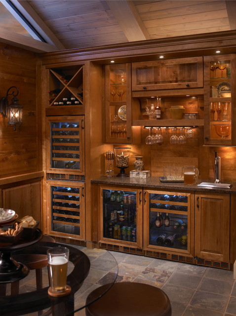 Built In Refrigeration With Custom Wood Overlays